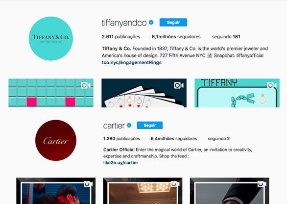 2c973914cee Tiffany e Cartier são as joalherias que mais se destacam na Internet